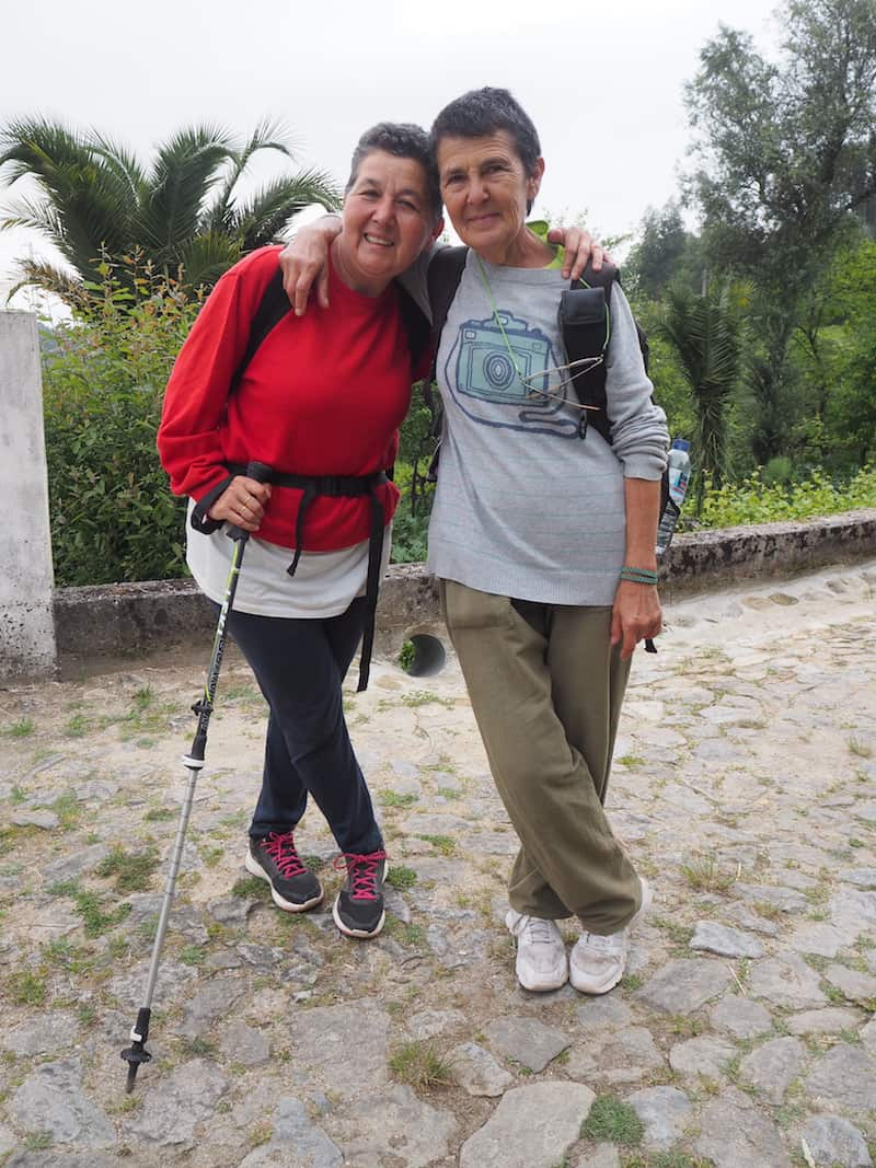 "Here's to a sister couple who's impressed me deeply: At 74 and 71, respectively, they were ""walk-flying"" the Camino, much faster than I could ever have imagined to walk ...!"