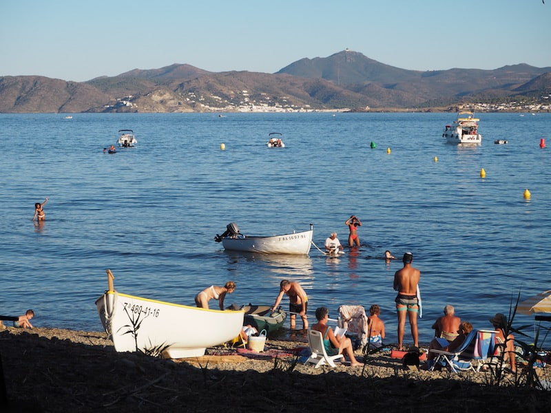 The port city of Lllançà, in Cap de Creus Nature Park ...
