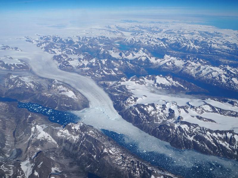 Schon alleine die Anreise nach Kanada, von London aus über Grönland ...