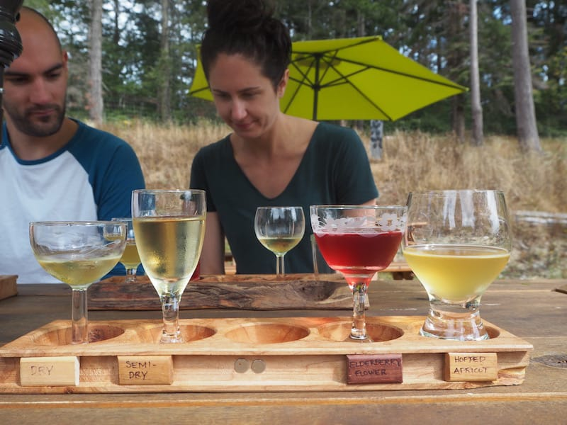 ... continuing our visit by meeting the local cider producers at Salt Spring Wild ...