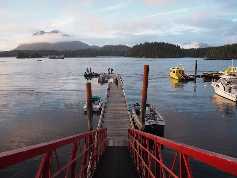 Once you reach Tofino, the view across the inlet is stunning, to say the least ...
