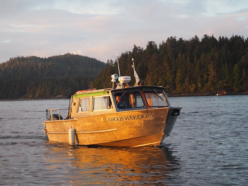 ... the local tribe people of the Ahousaht tribe, on whose lands Lone Cone Hostel & Campground is built and managed by, providing this regular boat transfer ...