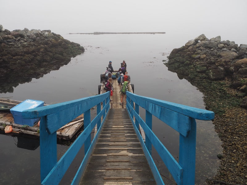 ... all the way out to the jetty that has visitors come & go: Reaching Tofino is by various free boat shuttle services a day.