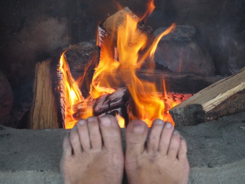 ... you guys made an itchy pair of world traveller's feet calm down for a full few days, sitting by the fire sharing stories like in the old days. LOVE IT! To you !!!