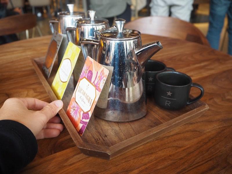 ... die Kaffeeverkostung im Tasting Room & Roastery von Starbucks ist dennoch eine röstfrische Reise wert!