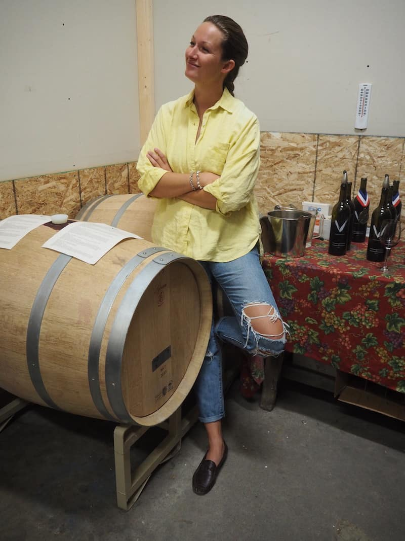 … as well as tasting excellent red wines at Van Westen Winery …