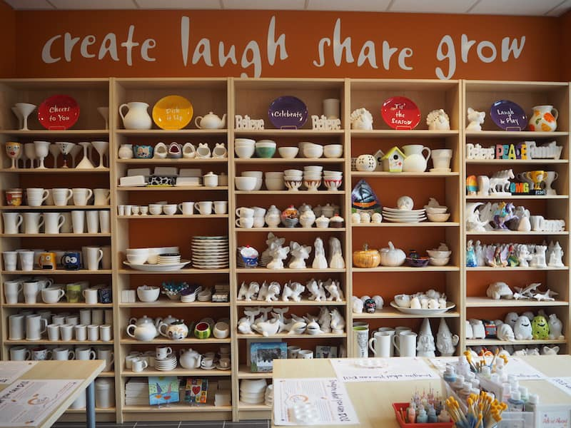 "Just a little further down the road, make sure you stop a ""Crock A Doodle"" for creating your own pottery piece of art - a perfect place for a creative traveller like myself!"