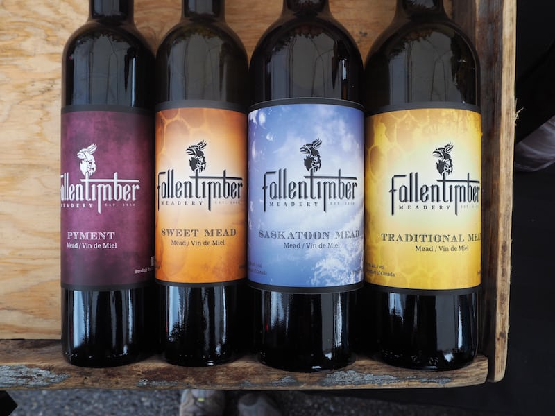 ... at Fallen Timber Meadery, a local honey wine producer.