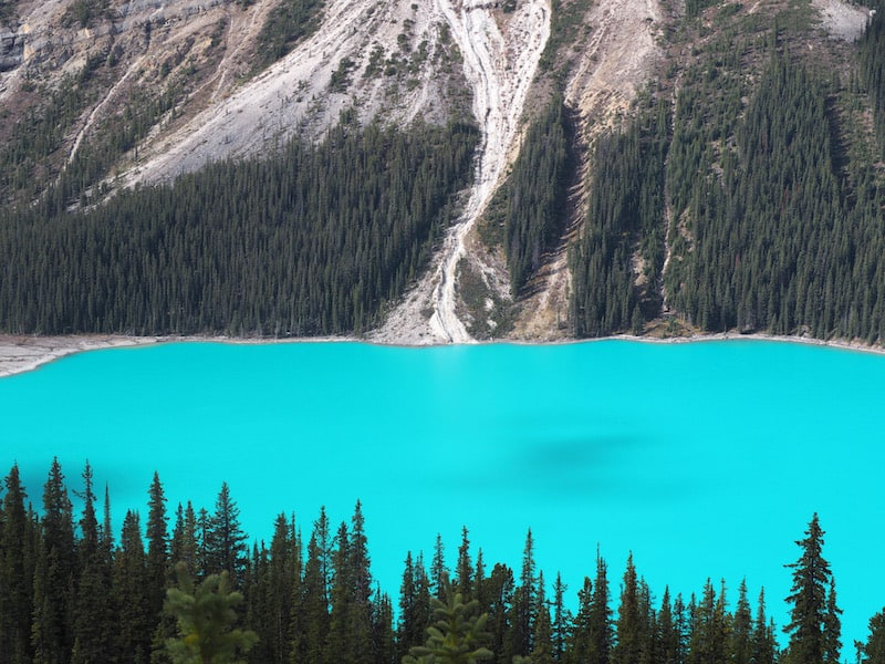 Still can't quite get over the fact just HOW BLUE the glacial water lake is.!