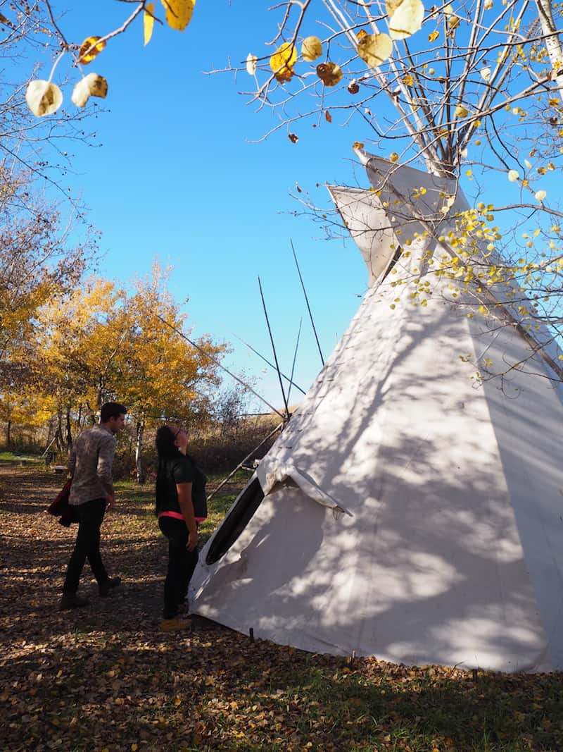 Wanuskewin is furthermore special for me, as it is the first time I (finally) get to go inside a real Tipi ...