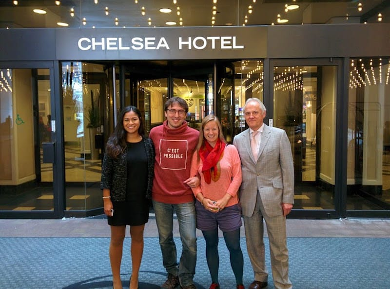 ... but what we found to be the same all throughout our stay, was the genuine friendliness of the great team at Chelsea Hotel Toronto: Thank you, Iris Ibarra & Josef Ebner, for making our stay such a pleasurable one.