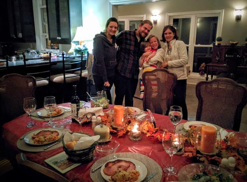 The night after our Thanksgiving dinner with the beautiful family ...