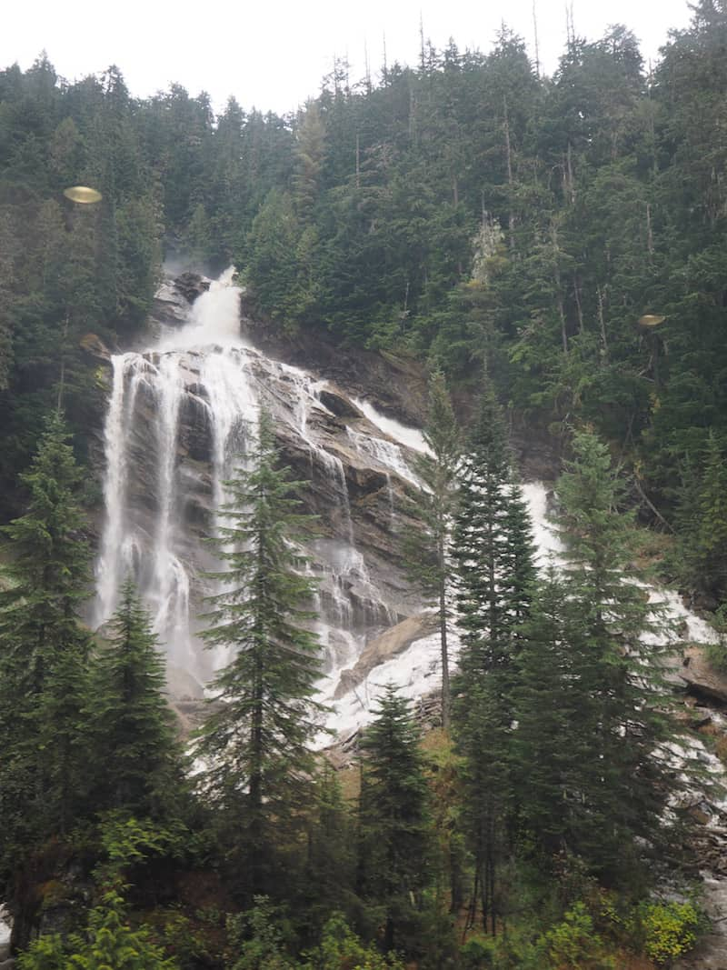 ... to passing by natural sights, such as this waterfall that is ONLY visible from the train ...