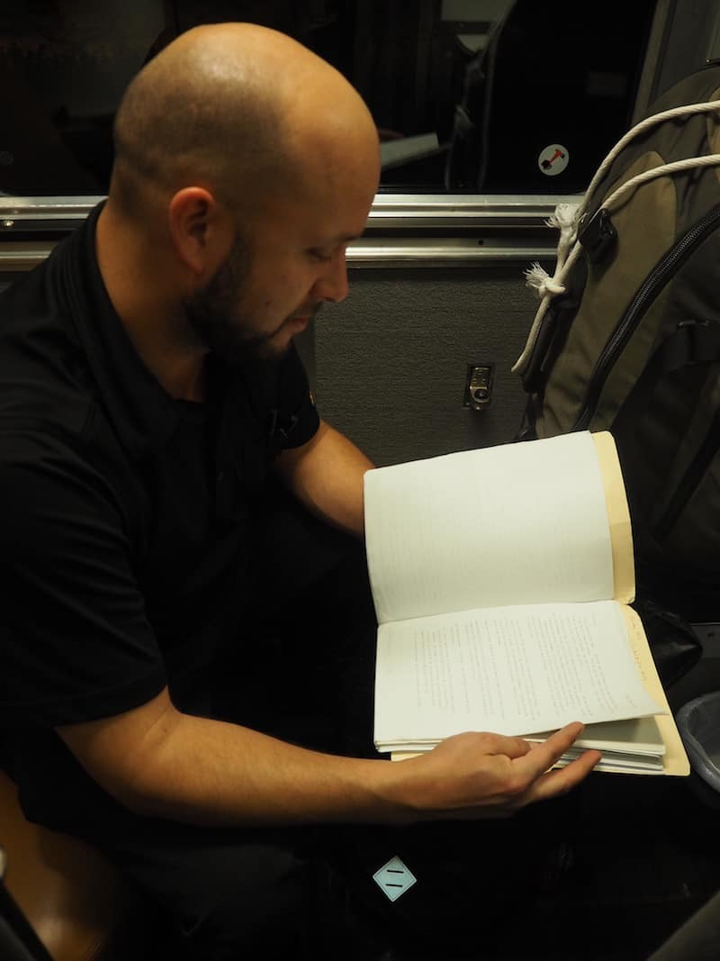 ... and making those connections with friendly staff, such as David here who posts regularly on Instagram about his fascinating type writing hobby on the train: https://www.instagram.com/train_missives/ for more on following his train travels!