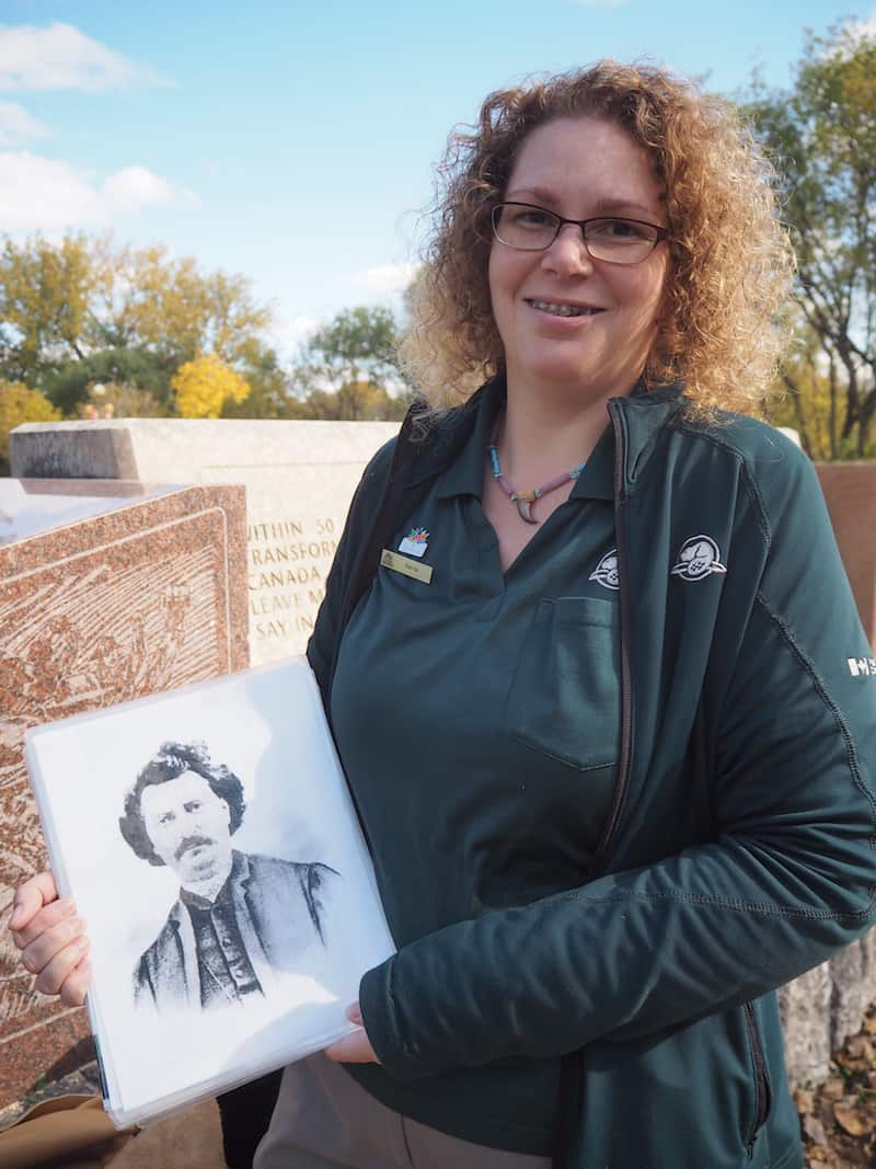"... with Karrie explaining all there is to know about the local area settlement history, and the uprising of the first Métis nations led by the ""Father of Manitoba"", Louis Rial ..."