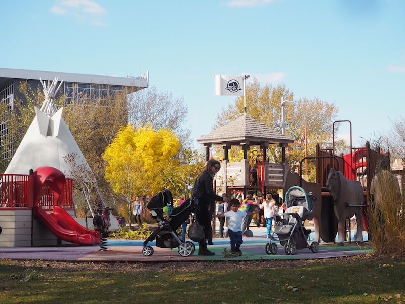 ... today, The Forks has also cleverly integrated local area history in a playground for the local and visiting children alike ...