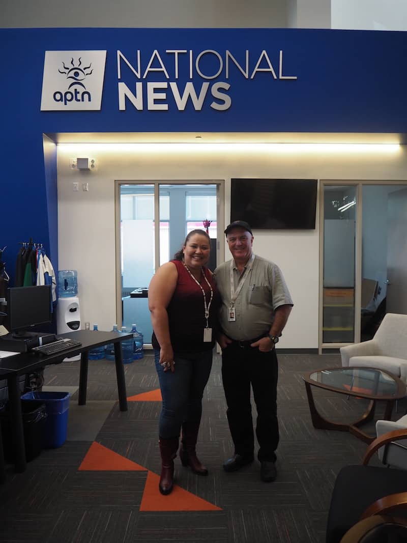 "Next up & to feed my continued interest for First Nation travel experiences, I make it to the ""National News"" at the Aboriginal Peoples Television Network of Canada, called APTN ..."