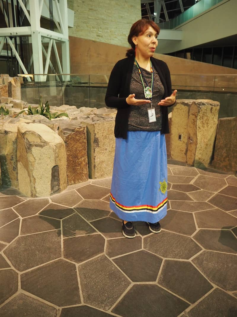 ... of a kind, led by Carly & her colleague Julie, who tell us all there is to know about First Nation aboriginal teaching as far as their traditions as well as the symbols in the modern museum are concerned.