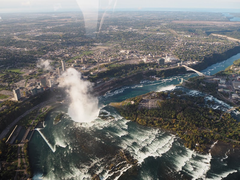 ... featuring personal commentary over an imposing sight such as this one: Niagara Falls right at the border between Canada and the United States.