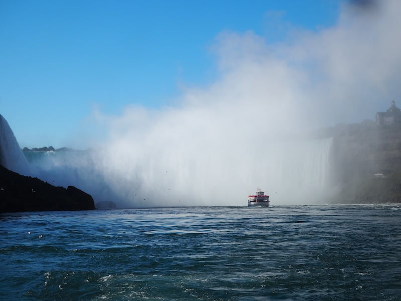 ... wet and wild, cruising right into the famous Horseshoe bend of Niagara Falls.!
