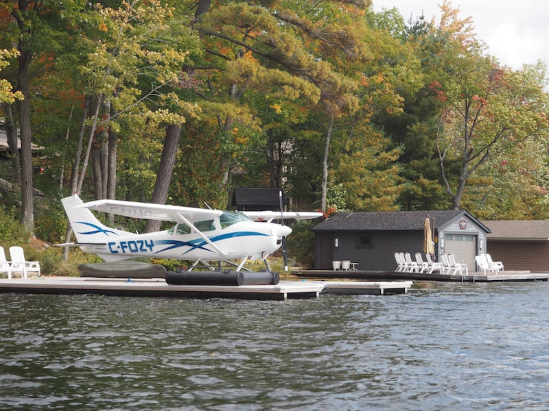"Some, of course, do it all the way in style, having their private little float plane parked in the ""water yard"" ..!"