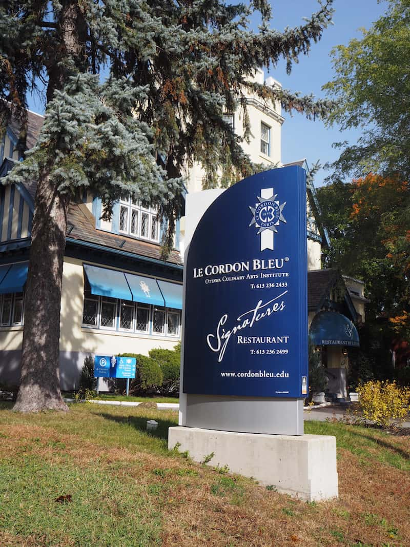 "For something a bit more unusual (and if you wanted to take a lovely walk), try eating at, and visiting, ""Le Cordon Bleu"", Ottawa's Culinary Arts Institute and a cradle of exciting new master chefs!"