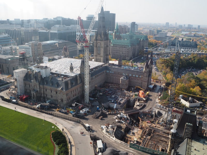 "As well as the views from the top: This is where the ""House of Commons"" will move too, by the way, as the old Parliament will be restored soon."