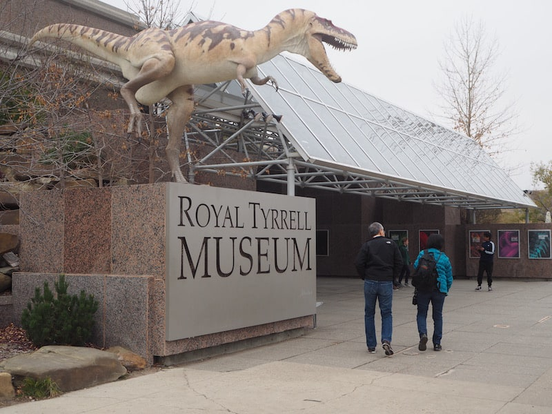 … at the Royal Tyrrell Dinosaur Museum …