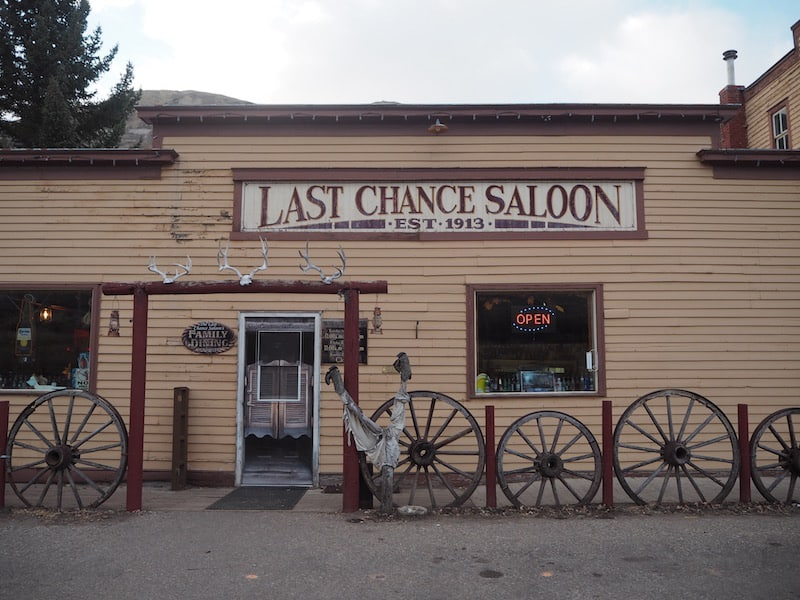 "… await the odd traveller on their way to real movie scenes, such as our dinner stop at the ""Last Chance Saloon""!"