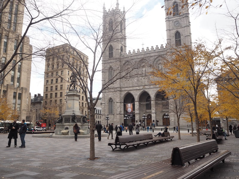 ... as part of our tour, Sebastian also takes us around historic, downtown Montréal where this square strikes us all as very European indeed ...