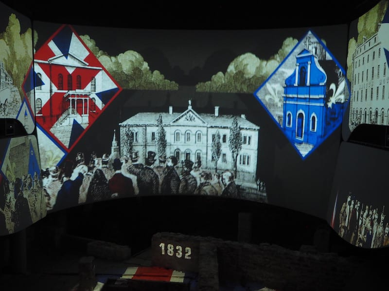 ... and if you have a deeper historical interest even, head over to Pointe-à-Collière, Montréal's archaeological museum with an impressive 20-minute mapping show of the 400-year-history of town ...