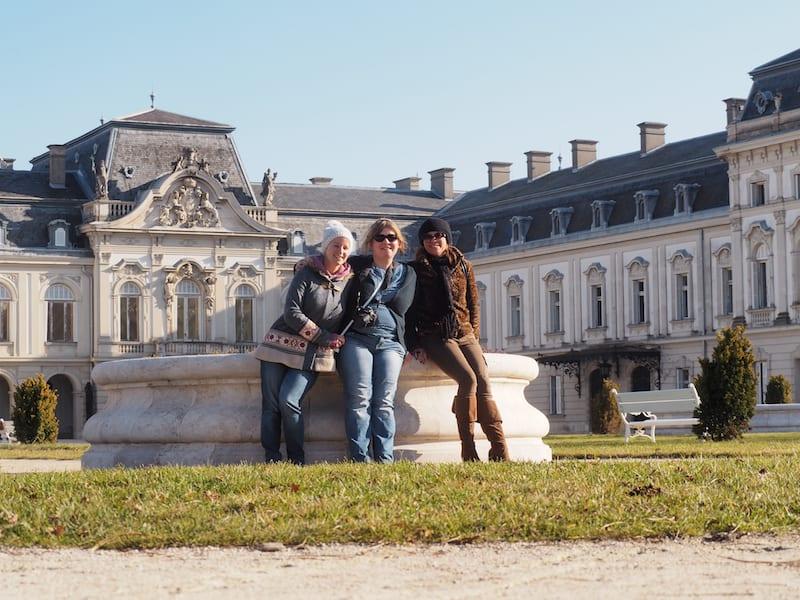 ... und wir auch den Kulturgenuss des Schlosses von Keszthely ...