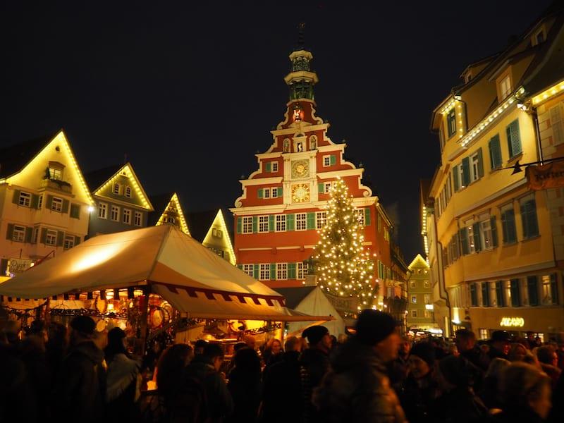... oder hier der Mittelaltermarkt in Esslingen ...