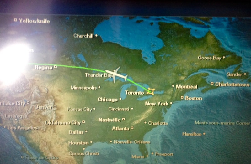 Next up on my surprise mission: Another four-hour flight from Toronto to Calgary (yes, it's a big, big country ..) ...