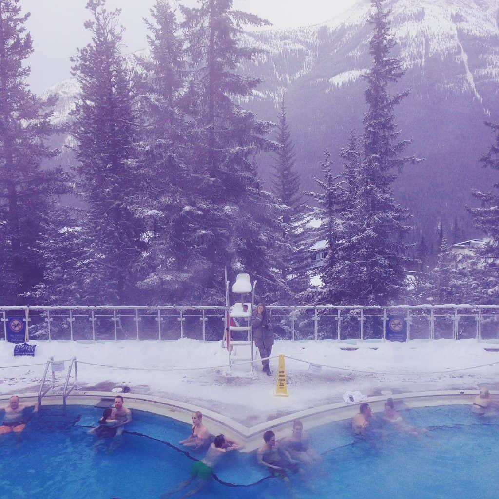 ... together with two more travellers from Australia, we go & experience the Banff Upper Hot Springs ...