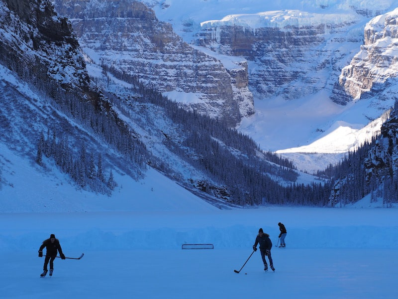 And naturally, wherever there's ice (in Canada), there must be hockey.