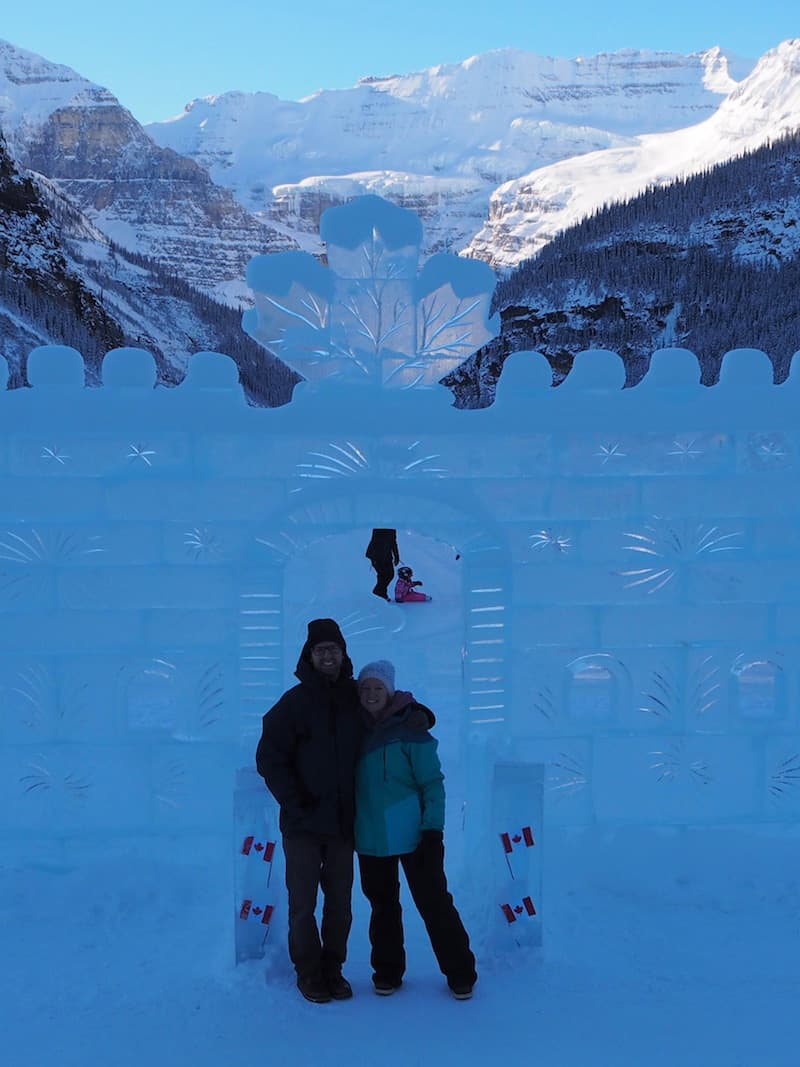 ... Lake Louise has an ice castle, too ..!