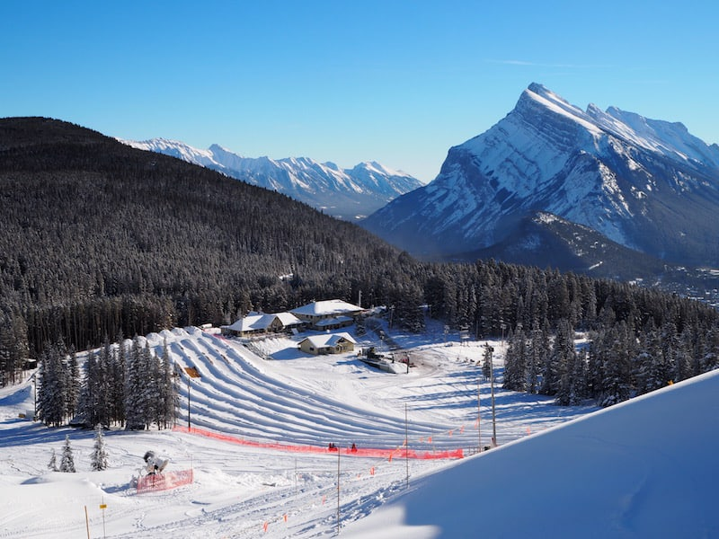 ... a mere ten minutes' drive from the town of Banff, it also offers a fun tubing area for snow enthusiasts ...