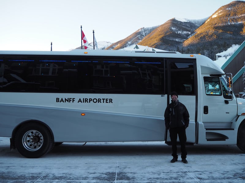 ... everything except the warm-hearted smile of the local people, there to greet you & cheer you up. Cheers to our driver Adam for a fantastic road trip onboard the Banff Airporter!