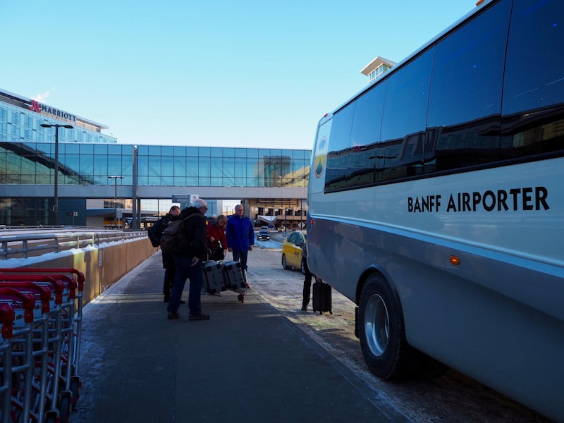 "Coming in from either across the Atlantic or ""simply"" across Canada: Calgary International Airport, and the Banff Airporter, make for a warm welcome ..."