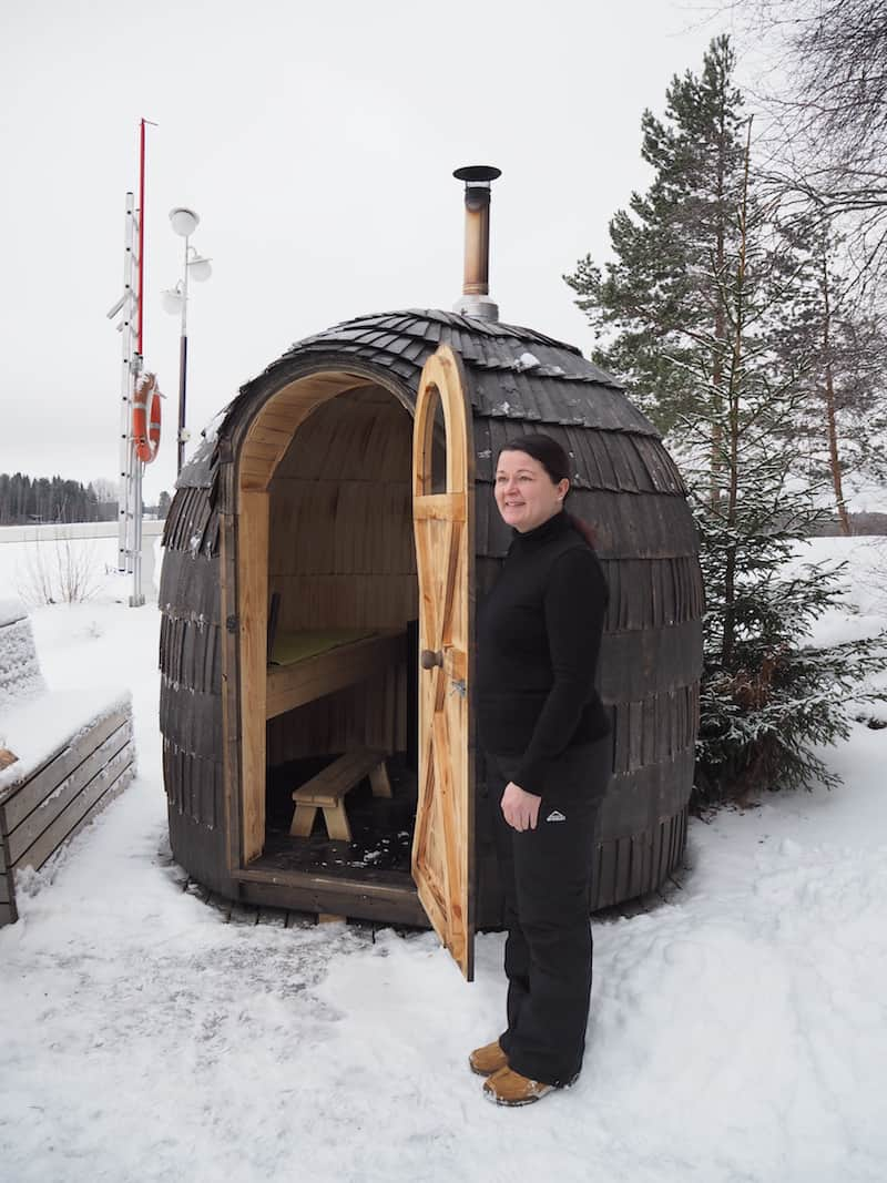 Ready for the Finnish take on the igloo? It's a sauna, of course ..!