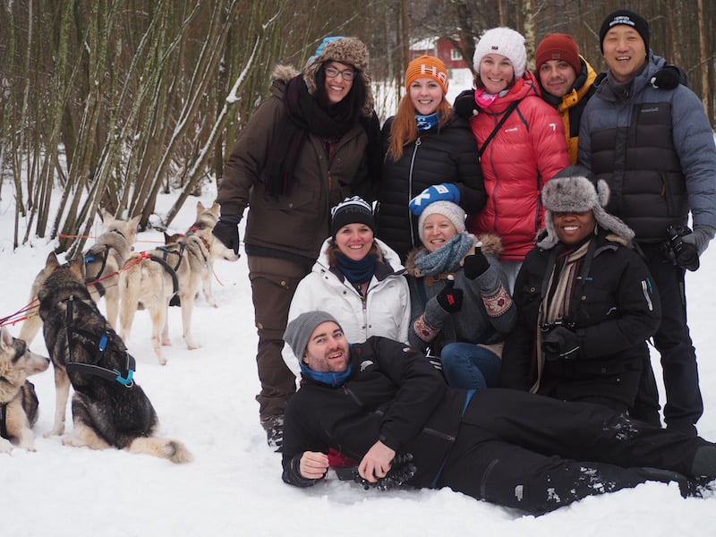 ... and so are we: Ready for another adventure! Love my time in Finland with this international group of bloggers:
