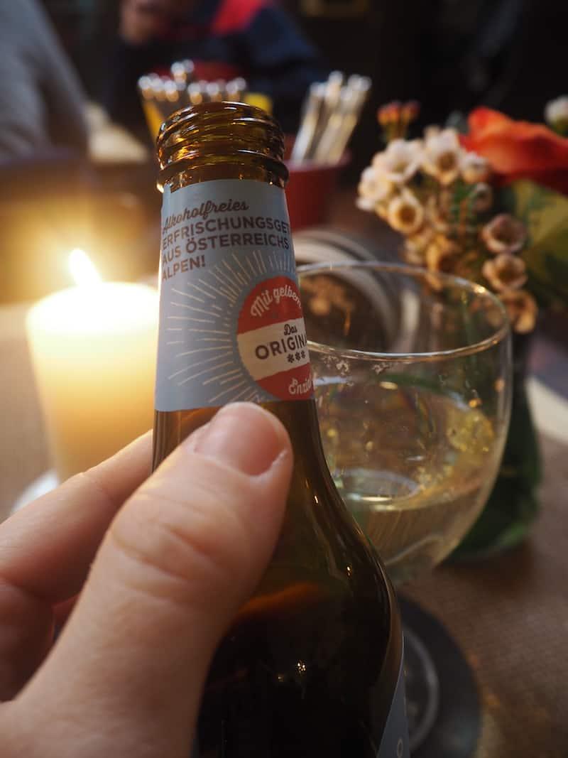 ... gefolgt von einem ebenfalls sehr köstlichen Genussgetränk aus den österreichischen Alpen.