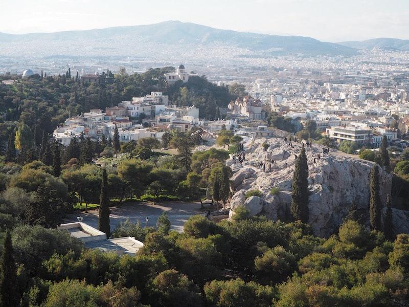 Auch der Blick von der Akropolis aus ...
