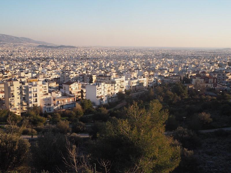 Blick über Athen ...