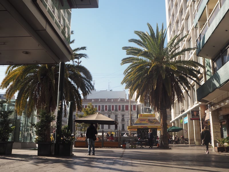 ... nahe dem Omonia-Platz ...