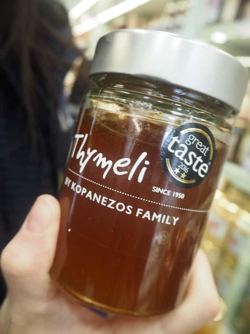 ... so gut schmeckt beispielsweise dieser Original-Thymian-Honig hier, dass ich ihn glatt mitnehme - als Geschenk für Familie und Freunde zuhause.