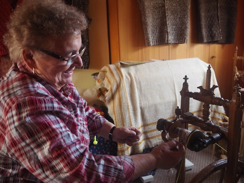 Zu Besuch in der Wollwerkstatt von Maria Rienesl ..