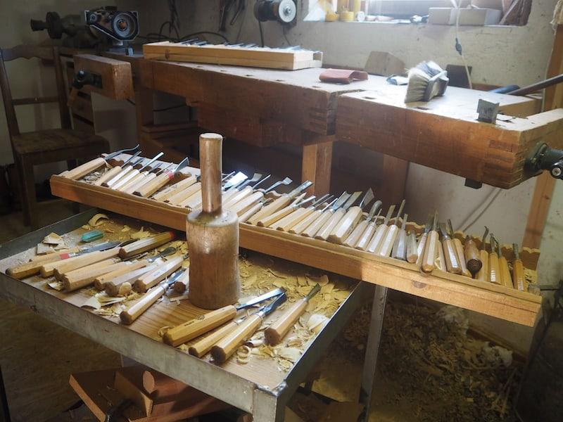... was an Ausstattung seiner Werkstatt ...