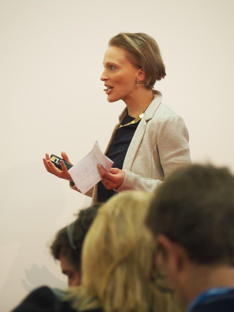 """... geballte Frauenpower beim Vortrag """"How to reach Millenials"""" mit Catharina Fischer von Tourismuszukunft ..."""